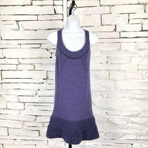 Nanette Lepore Purple Knit Sleeveless Dress 1309